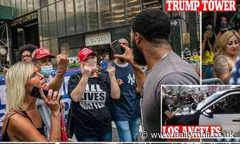 Showdown at Trump Tower: MAGA supporters clash with protesters outside president's NYC home