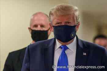 Maskup Finally! Donald Trump dons masks in public after avoiding it for months