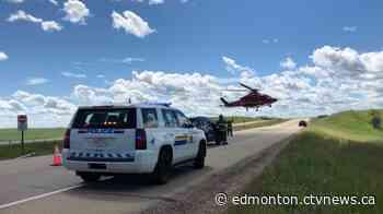 4 sent to hospital in QEII rollover near Ponoka - CTV News Edmonton
