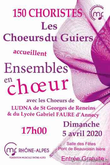 Ensembles en chœur à Pont de Beauvoisin Salle polyvalente dimanche 5 avril 2020 - Unidivers