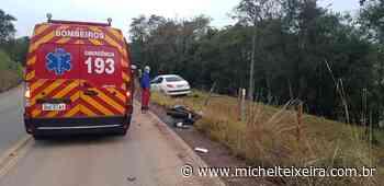 Motociclista fica ferido após colisão com carro no interior de Campos Novos - Michel Teixeira