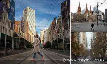 Melbourne's streets are deserted as residents stay at home to slow the spread of coronavirus