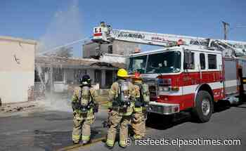 Firefighters battle large fire on Hueco Avenue in Central El Paso