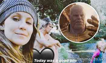 Kathryn Brolin shows off her pregnant belly on social media as husband Josh discusses playing Thanos