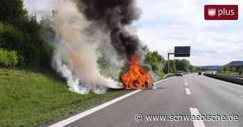 Fahrzeugbrand auf der A96 bei Aitrach | schwäbische.de - Schwäbische