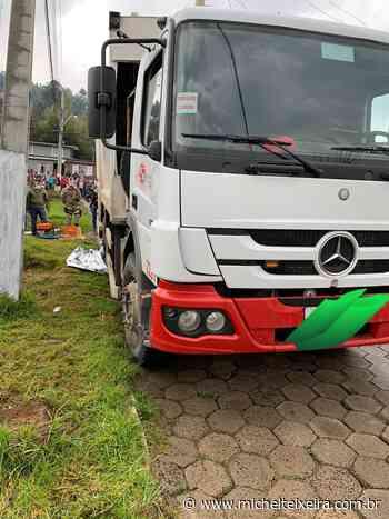 Homem de 36 anos morre esmagado por rodado de caminhão, na serra - Michel Teixeira