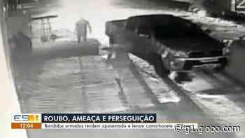 Criminosos armados rendem aposentado e roubam caminhonete na Serra, no ES - G1