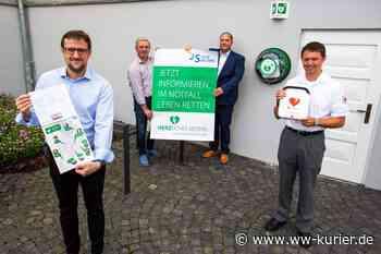 """Acht öffentliche Defibrillatoren aufgehängt: Stadt Selters startet Kampagne """"Herzliches Selters - WW-Kurier - Internetzeitung für den Westerwaldkreis"""