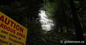 Child survives waterfall plunge at Bridal Veil Falls Provincial Park