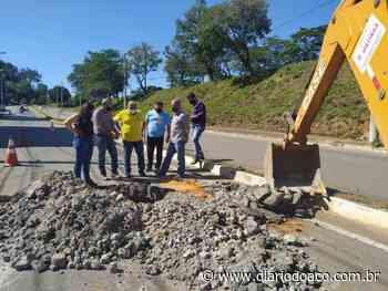 Executivo de Ipatinga faz estudos de solo para recuperação da avenida Colatina - Jornal Diário do Aço