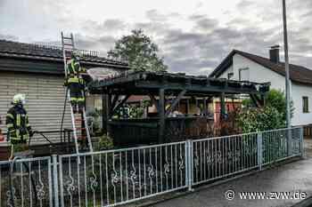 Brand eines Carports in Alfdorf-Pfahlbronn - Homepage - Zeitungsverlag Waiblingen - Zeitungsverlag Waiblingen