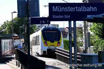 Warum die Münstertalbahn oft schon in Staufen endet - Staufen - Badische Zeitung