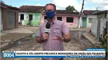 Obra da prefeitura deixou esgoto à céu aberto em União dos Palmares - BR 104