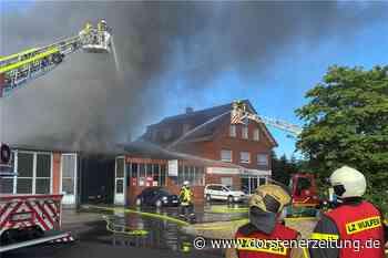 Feuerwehr Wulfen hilft bei Großbrand in Haltern - Dorstener Zeitung