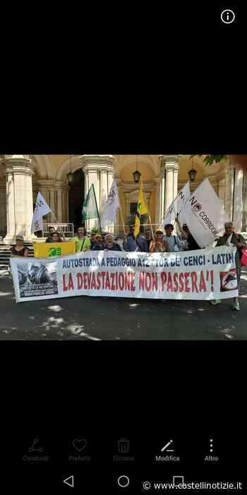 """Velletri - Comitati """"No corridoio Roma-Latina e bretella Cisterna-Valmontone"""" verso il presidio del 15 luglio - Castelli Notizie"""