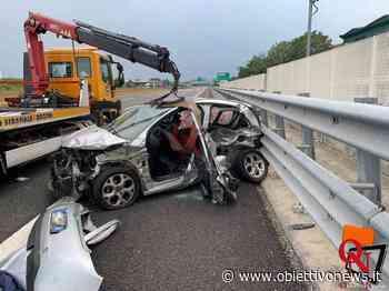 SETTIMO TORINESE – Incidente sull'autostrada A4, coinvolte due vetture; un ferito (FOTO) - ObiettivoNews