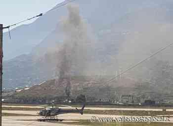 Tir a fuoco sulla A5 alle porte di Aosta - Valledaostaglocal.it
