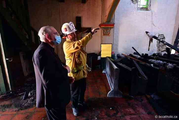 Mission founded by St. Junípero Serra burns in overnight fire - The B.C. Catholic