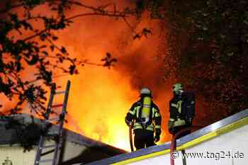 Flammen-Inferno in Gartenverein in Leipzig-West - TAG24