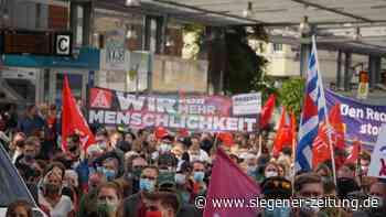 """Kundgebung gegen """"III. Weg"""" in Siegen (Update): Große Demo ohne Zwischenfälle - Siegen - Siegener Zeitung"""
