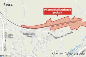 Photovoltaikanlage an den Bahngleisen - Freie Presse