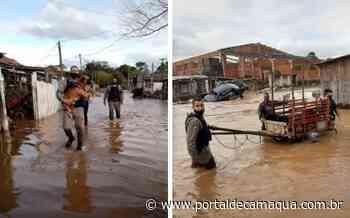 Brigada Militar presta socorro às vítimas de enchente em Esteio - Portal de Camaquã