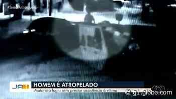 Motorista atropela porteiro e foge sem prestar socorro, em Goiânia; vídeo - G1