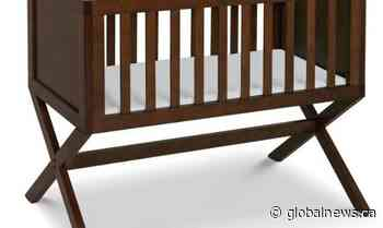 Health Canada recalls DaVinci baby bassinet over fall, entrapment hazard