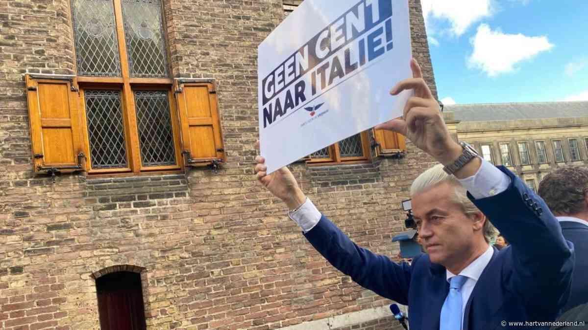 Geert Wilders demonstreert in zijn eentje op het Binnenhof: 'Geen cent naar Italië!' - Hartvannederland.nl