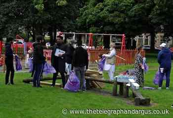 Residents gather to clean-up Bradford Moor Park