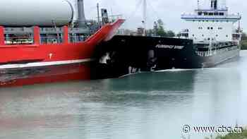 Officials investigating after 'rare' collision between ships in Ontario's Welland Canal