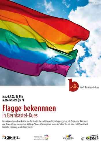 Flagge bekennen für ein vielfältiges und buntes Miteinander in Bernkastel-Kues   5VIER - 54... Trier-Mosel-Eifel-Hunsrück - 5vier