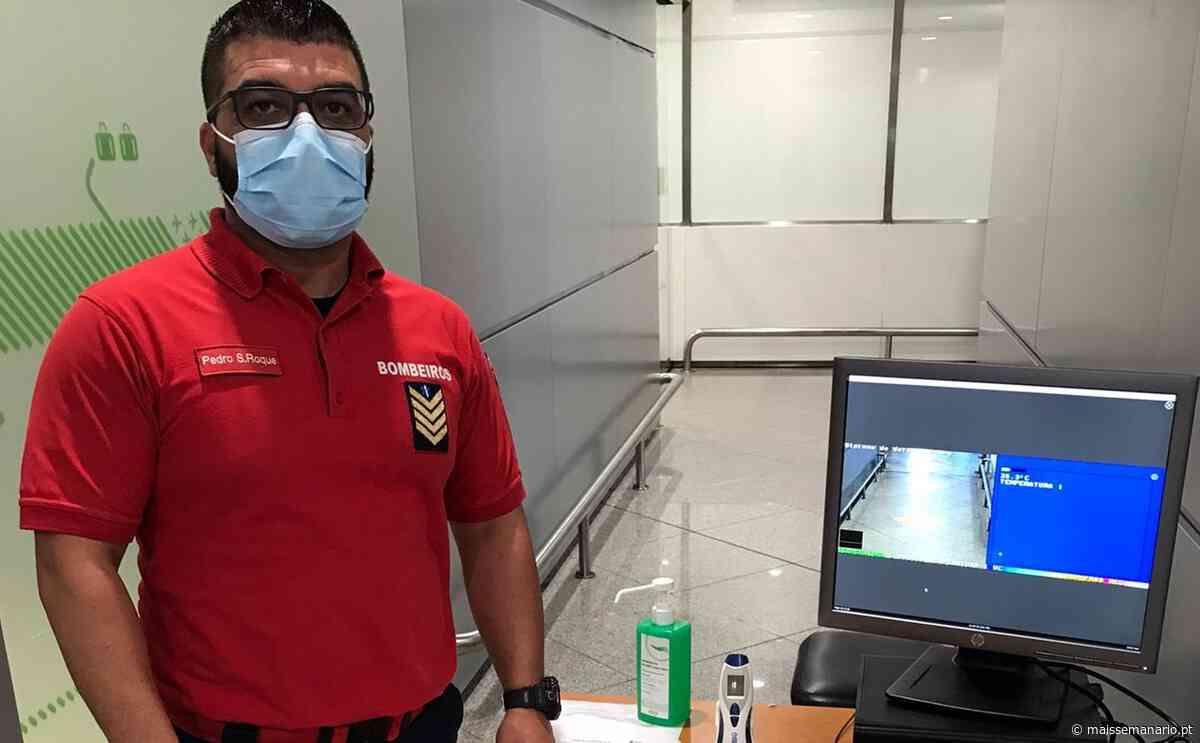 Bombeiros de Vila do Conde medem temperatura a passageiros no aeroporto Sá Carneiro - maissemanario