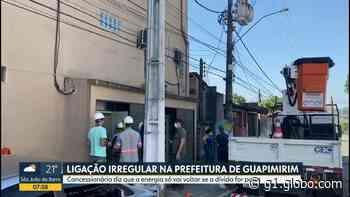 Prédio da Prefeitura de Guapimirim fica sem luz por conta de 'gato' de energia - G1