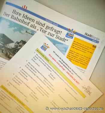 Umfrage zur Umgestaltung des Bahnhofsvorplatzes: Ihre Ideen sind gefragt! - Wochenblatt-Reporter