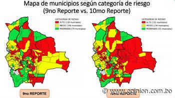 Pasorapa, Tarata, Omereque y Punata suben a Riesgo Alto; Cercado permanece entre los 10 municipios con mayor índice de contagio - Opinión Bolivia