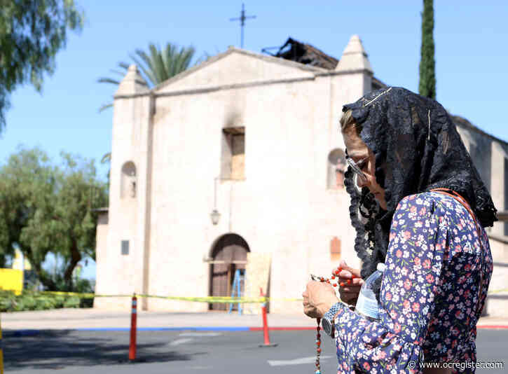 Catholic leaders vow to rebuild after fire tears through San Gabriel Mission