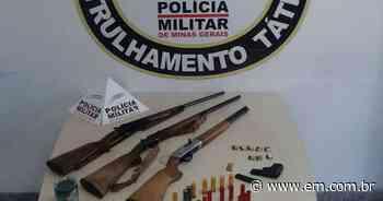 Irmãos brigam e são detidos pela PM com quatro armas em Contagem - Estado de Minas