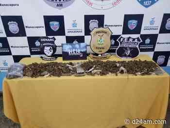 Em Manacapuru, polícia apreende 3,7 quilos de drogas dentro de embarcação - D24AM