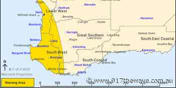 Severe weather warning for damaging winds for Perth, Mandurah and the South West - 91.7 The Wave