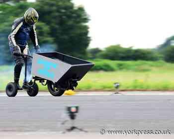 Whacky racer's bid for world's fastest wheelbarrow record - York Press