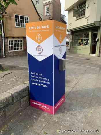 Hand sanitiser station in York damaged days after installation - York Press