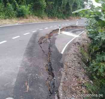 Carretera FBT se hunde en tramo Huicungo - Pachiza: - DIARIO AHORA