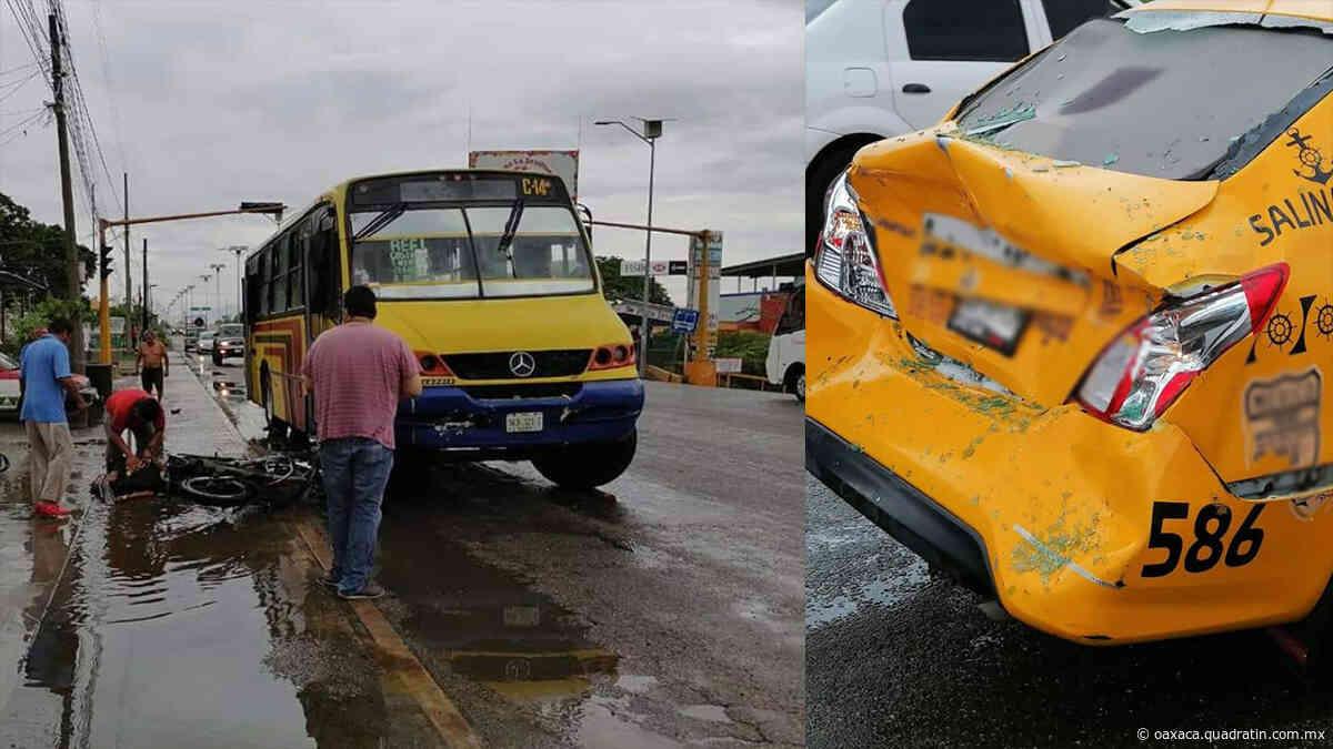 Arrolla camión urbano a motociclista en Salina Cruz - Quadratín Oaxaca