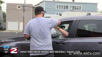 Drive Thru Pasta Fagioli and Meatball Tunnel sub event held in Utica Friday - WKTV