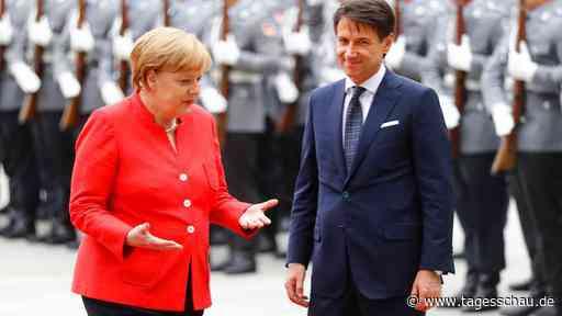 Conte bei Merkel in Meseberg: Annäherungsversuche im Schloss