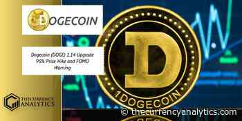 Dogecoin (DOGE) 1.14 Upgrade 95% Price Hike and FOMO Warning - The Cryptocurrency Analytics