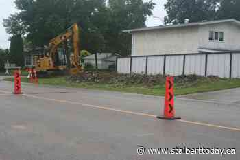 Safety measures on Langley Ave. start with tree bulldozing - St. Albert TODAY