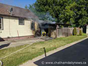 Crews battle Edgar Street fire