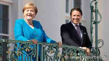 Merkel und Conte: Einigkeit über EU-Wiederaufbaufonds